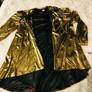 Vintage Gold Metallic Kimono